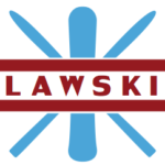 LAWSKI Logo - Light Blue and Red (Timeless)